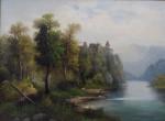 Wilkow A. - Romantická krajina s hradem