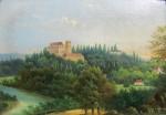 Strombinger Vilém (1845-1901) - Pohled na letohrádek ve Stromovce