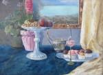 Dachovský E. - Zátiší s ovocem a květinou