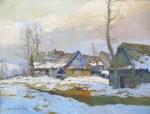 Dobeš Ludva - Zimní krajina s chalupou